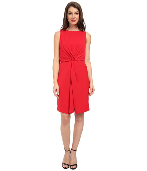 DKNYC - Double Layer Knot Dress (Crimson) Women's Dress