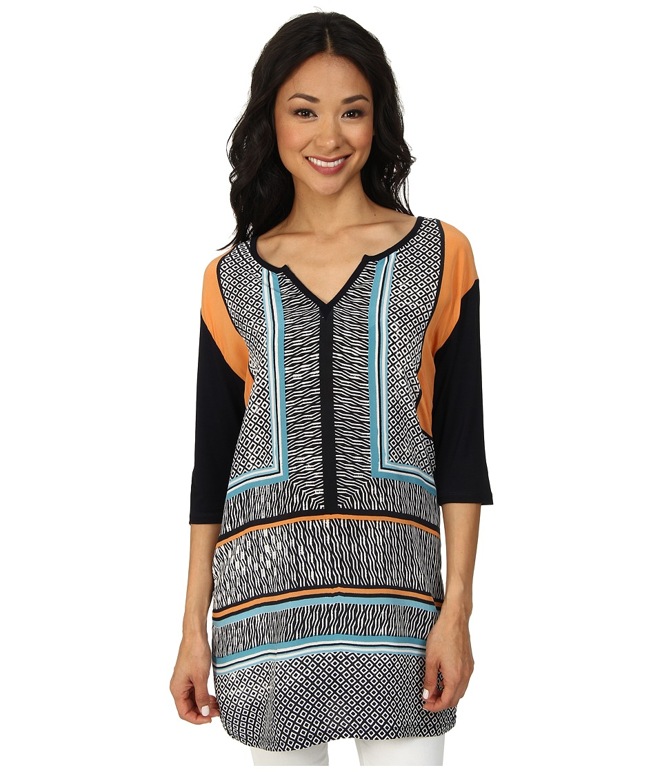 NIC+ZOE Tapa Tunic Top (Multi) Women