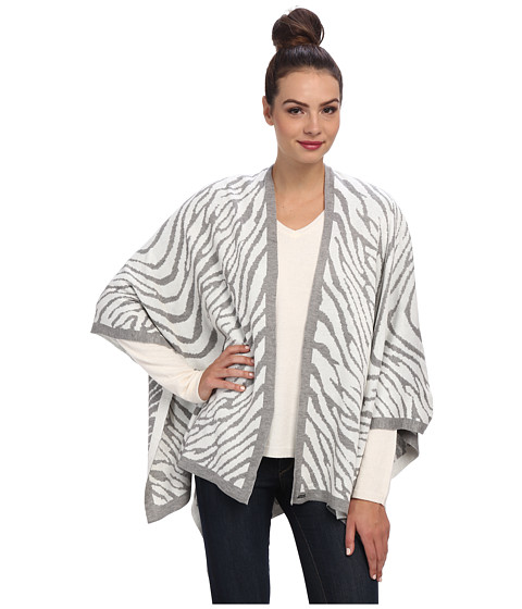 Calvin Klein - Zebra Shawl (Gray) Women