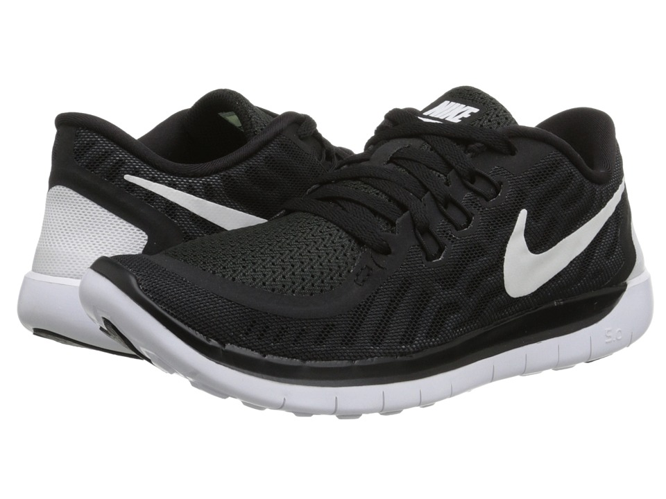 Nike Kids - Free 5.0 (Big Kid) (Black/Dark Grey/Cool Grey/White) Boys Shoes