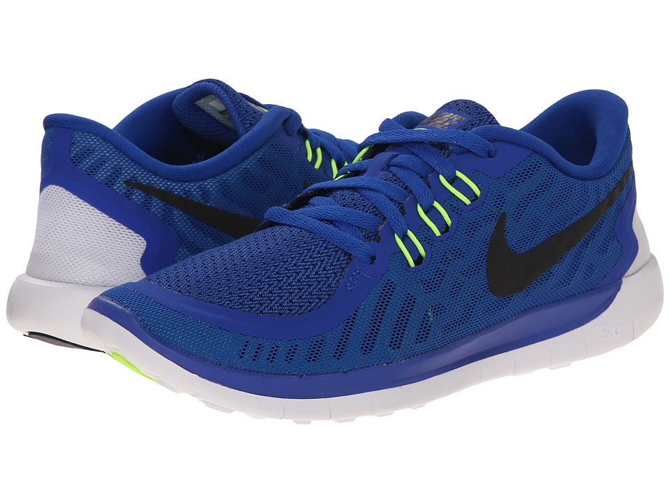 Nike Kids - Free 5.0 (Big Kid) (Game Royal/Neo Turquoise/Light Retro/Black) Boys Shoes