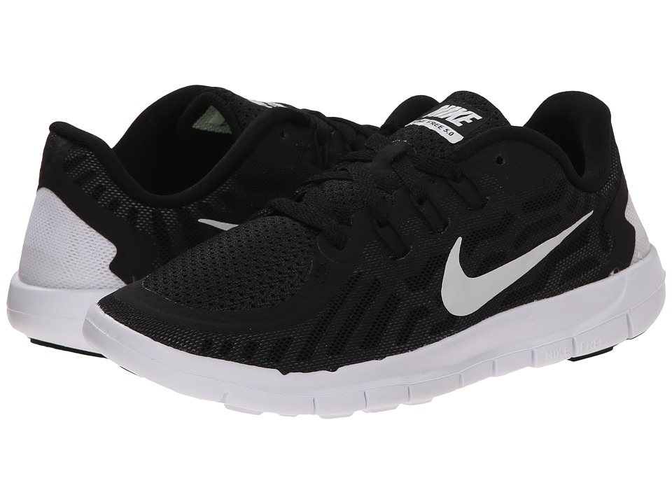 Nike Kids Free 5.0 (Little Kid) (Black/Dark Grey/Cool Grey/White) Boys Shoes