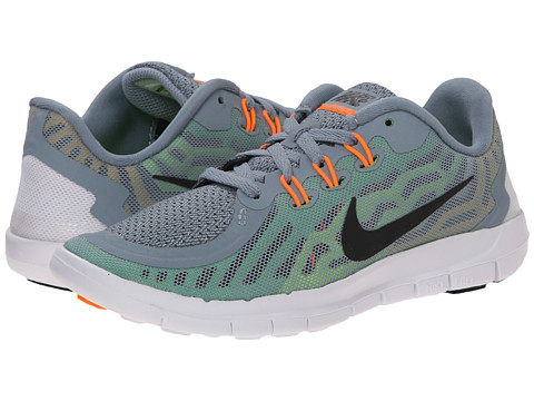 Nike Kids - Free 5.0 (Little Kid) (Dove Grey/Electric Green/Volt/Black) Boys Shoes