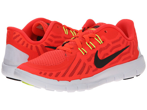 Nike Kids - Free 5.0 (Little Kid) (Bright Crimson/Total Orange/Bright Citrus/Black) Boys Shoes