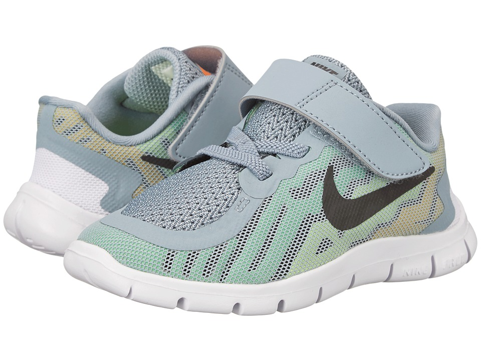 Nike Kids - Free 5 (Infant/Toddler) (Dove Grey/Electric Green/Volt/Black) Boys Shoes
