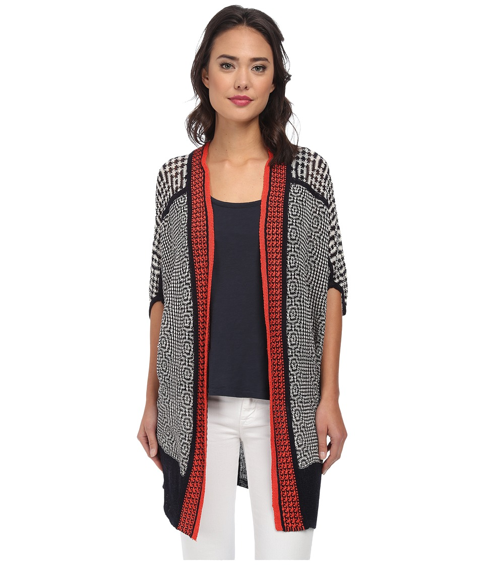 NIC+ZOE - Fire Trim Cardy (Multi) Women