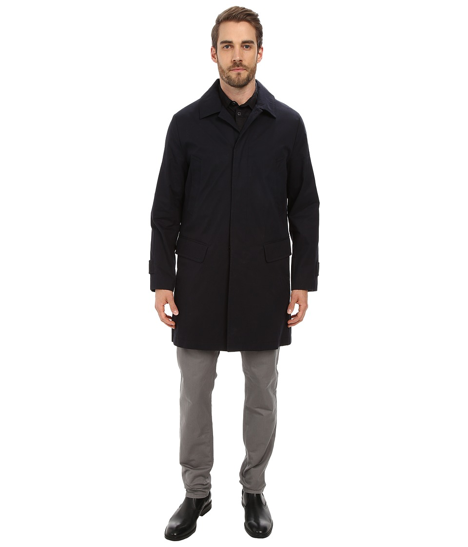 Andrew Marc x Richard Chai - Vail Vintage Waxed Cotton Trench w/ Removable Down Liner (Dark Navy) Men's Coat