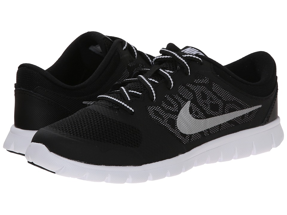 Nike Kids Flex 2015 Run (Little Kid) (Black/White) Boys Shoes