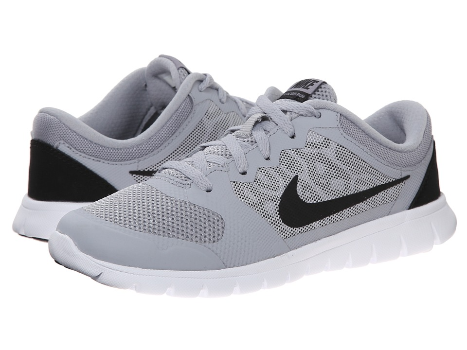 Nike Kids - Flex 2015 Run (Little Kid) (Wolf Grey/White/Black) Boys Shoes