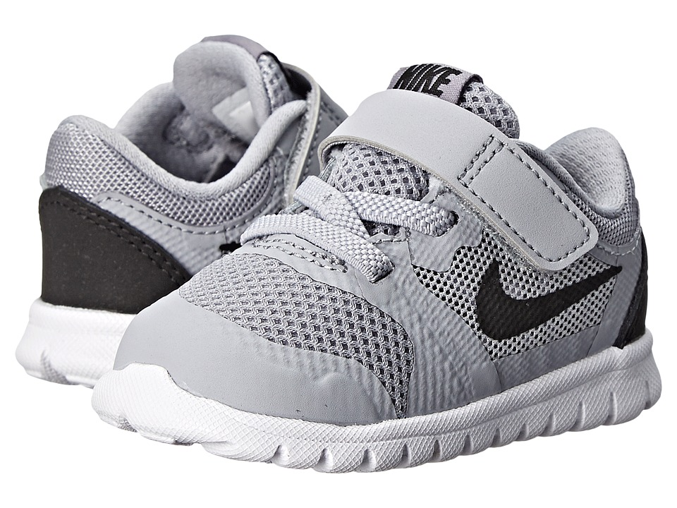 Nike Kids - Flex 2015 Run (Infant/Toddler) (Wolf Grey/White/Black) Boys Shoes