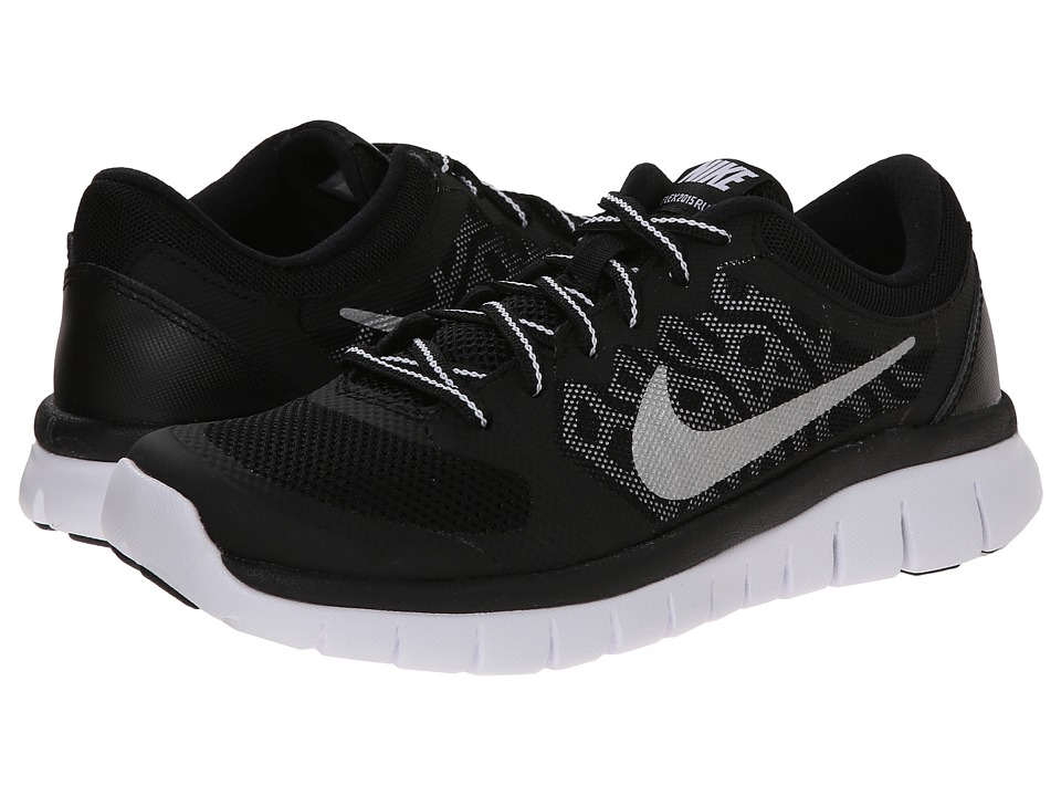 Nike Kids - Flex 2015 Run (Big Kid) (Black/White) Boys Shoes