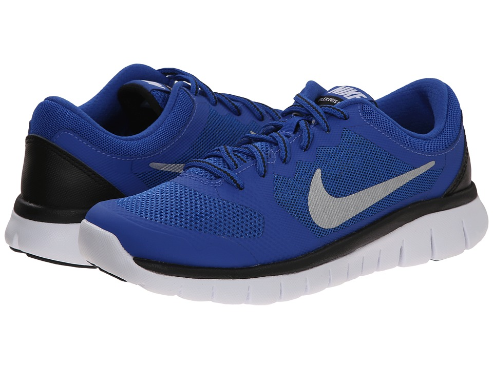 Nike Kids - Flex 2015 Run (Big Kid) (Game Royal/Black/White 4) Boys Shoes