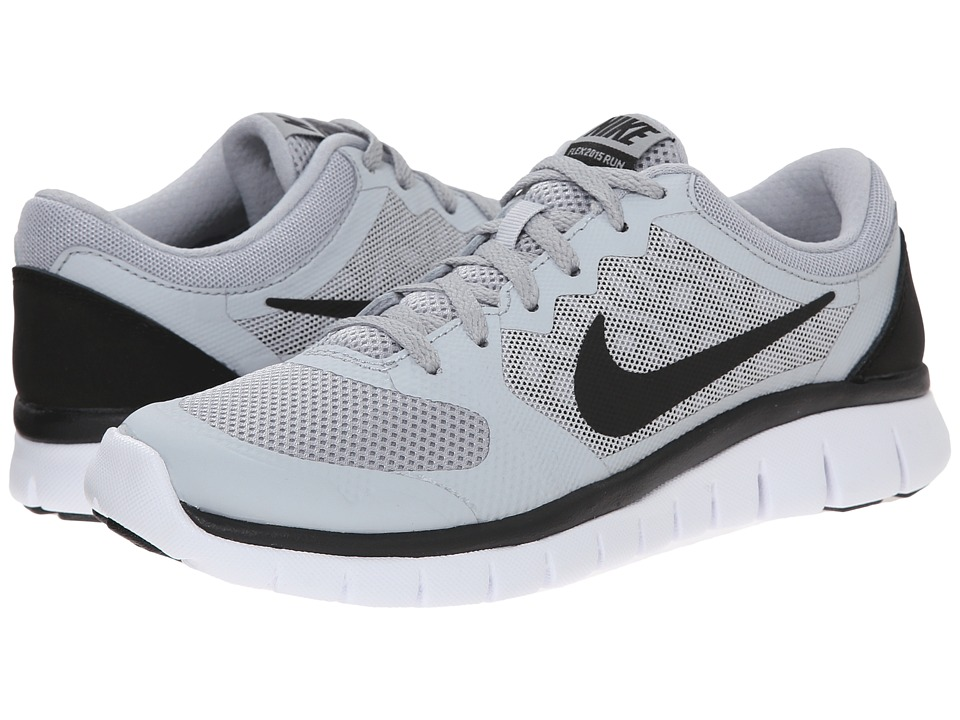 Nike Kids - Flex 2015 Run (Big Kid) (Wolf Grey/White/Black) Boys Shoes