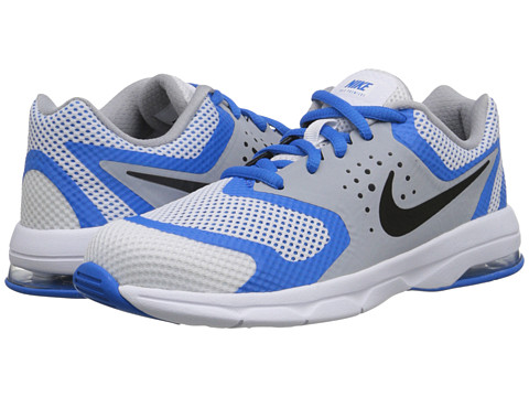 Nike Kids - Air Max Premiere Run (Little Kid) (White/Photo Blue/Wolf Grey/Black) Boys Shoes