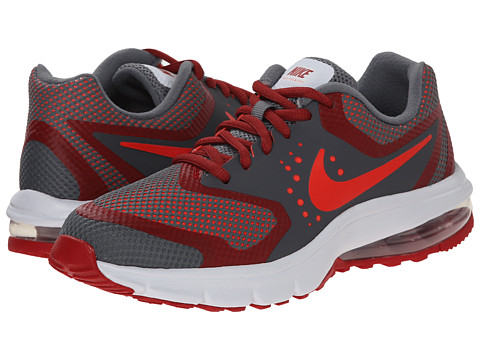 Nike Kids - Air Max Premiere Run (Big Kid) (Cool Grey/Gym Red/Dark Grey/Bright Crimson) Boys Shoes