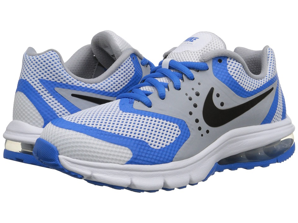 Nike Kids - Air Max Premiere Run (Big Kid) (White/Photo Blue/Wolf Grey/Black) Boys Shoes
