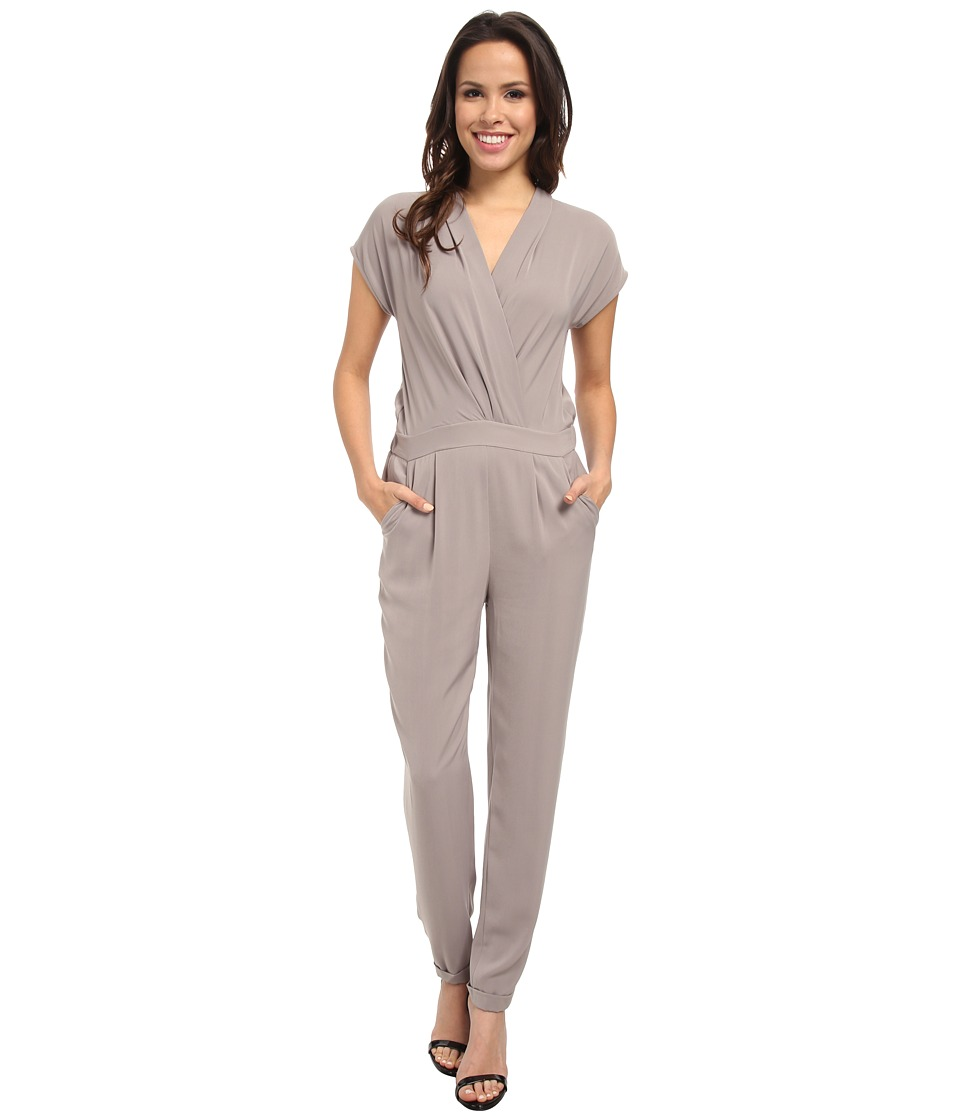 DKNYC - Cross Front Jumpsuit (Mink) Women's Jumpsuit & Rompers One Piece