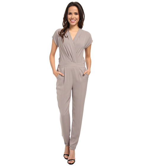 DKNYC - Cross Front Jumpsuit (Mink) Women