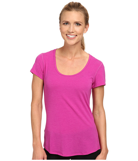 Lucy - S/S Workout Tee (Neon Berry) Women's Workout