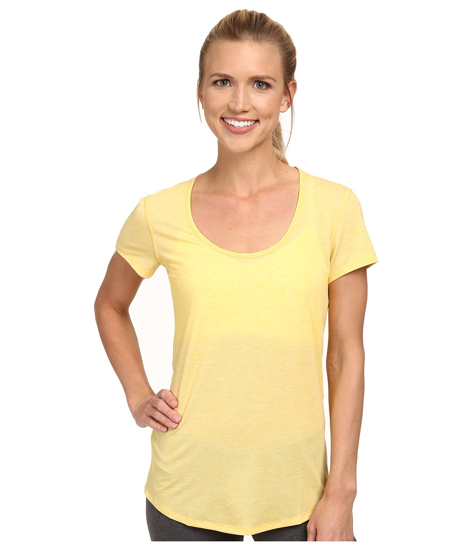 Lucy - S/S Workout Tee (Amber Glow Heather) Women's Workout plus size,  plus size fashion plus size appare
