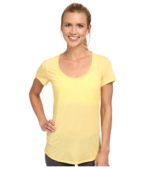 Lucy - S/S Workout Tee (Amber Glow Heather) Women