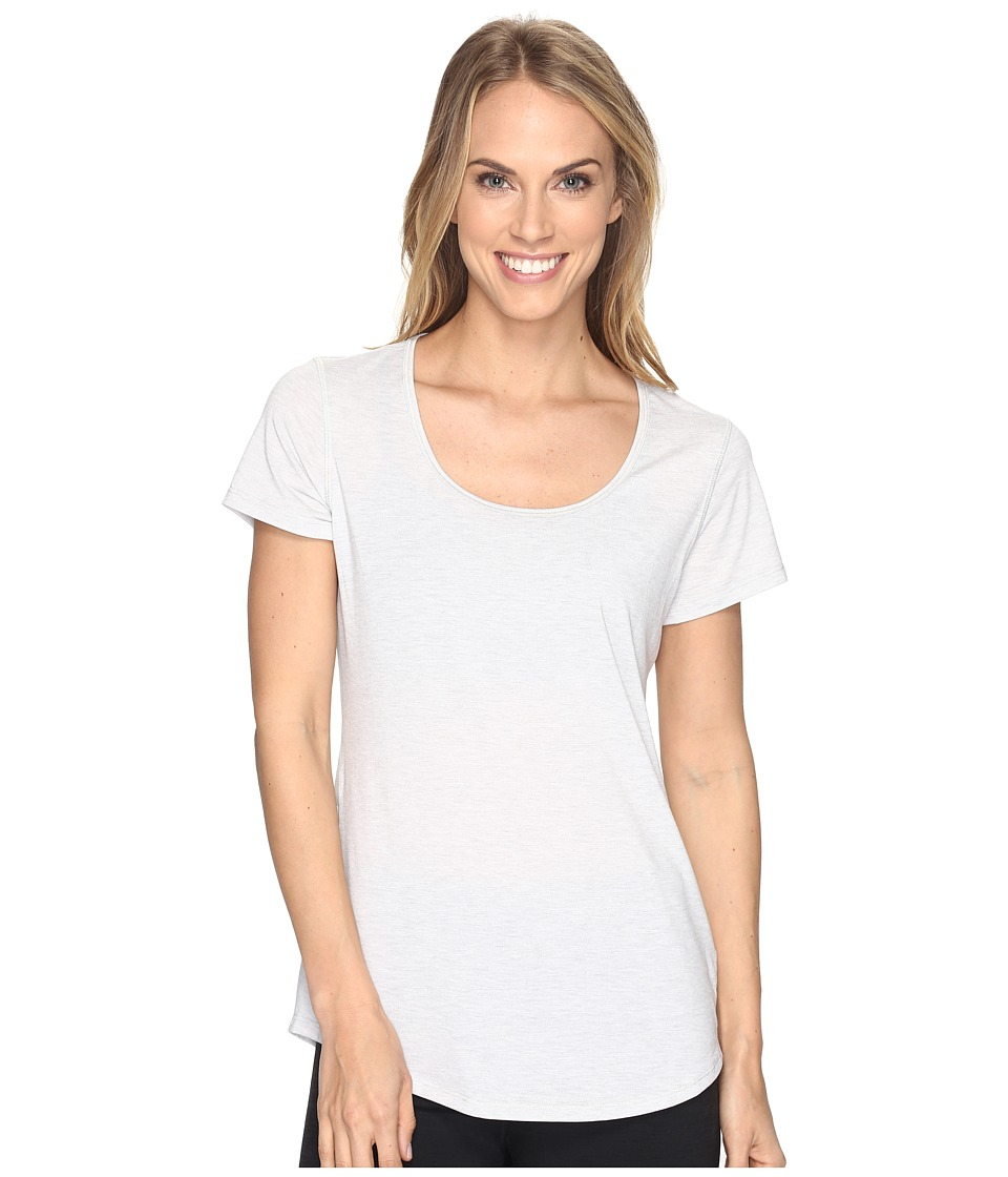 Lucy - S/S Workout Tee (Dove Grey Heather) Women's Workout