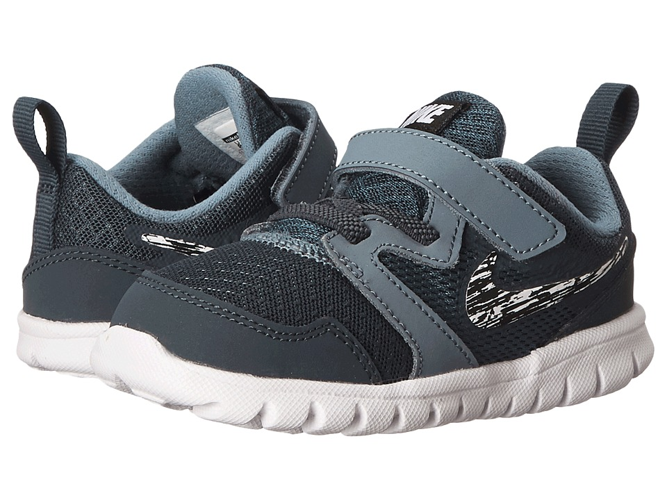 Nike Kids - Flex Experience 3 (Infant/Toddler) (Classic Charcoal/Black/Blue Graphite/White) Boys Shoes
