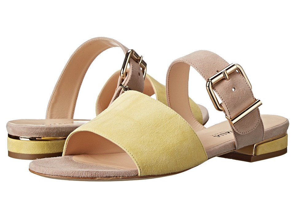 Aquatalia - Abash (Yellow/Stone Suede) Women's Sandals