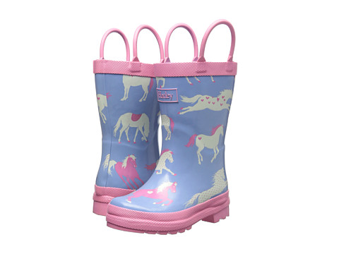 Hatley Kids - Rainboots (Toddler/Little Kid) (Hearts & Horses) Girls Shoes