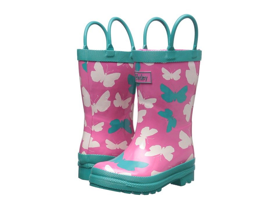 Hatley Kids - Rainboots (Toddler/Little Kid) (Graphic Butterflies) Girls Shoes
