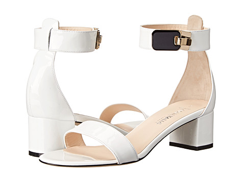 Aquatalia - Catty (White Patent) Women's Dress Sandals
