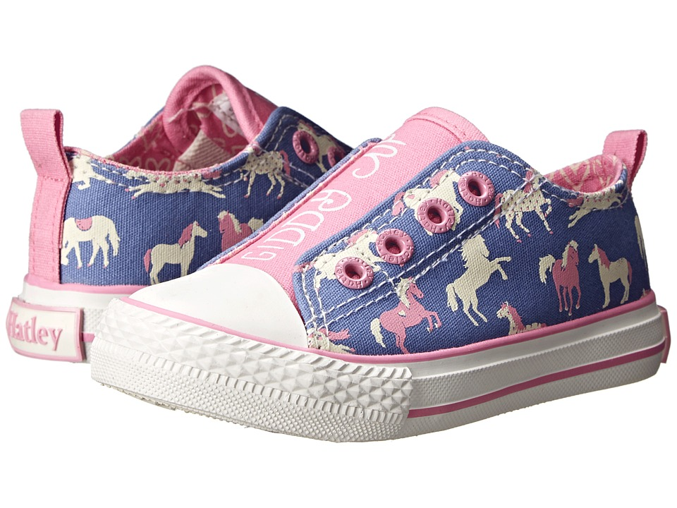 Hatley Kids - Canvas Shoe (Toddler/Little Kid) (Hearts & Horses) Girls Shoes
