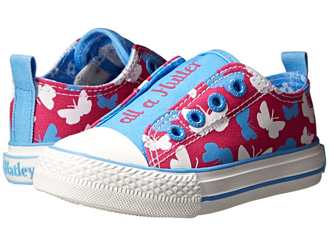 Hatley Kids - Canvas Shoe (Toddler/Little Kid) (Graphic Butterflies) Girls Shoes