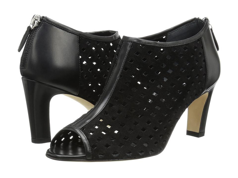 Aquatalia - Lark (Black Calf/Suede) Women's Dress Sandals