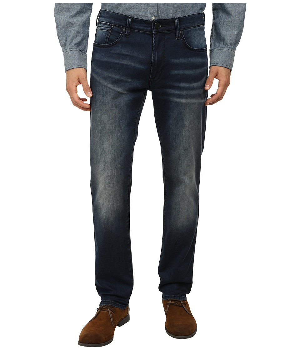 DKNY Jeans - Bleecher Knit Jean in Meade Dark Indigo Wash (Indigo) Men