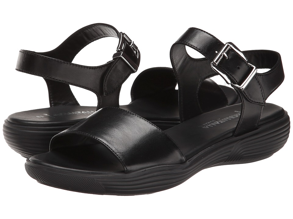 Aquatalia - Ravish (Black Calf/Black Unit Sole) Women's Sandals