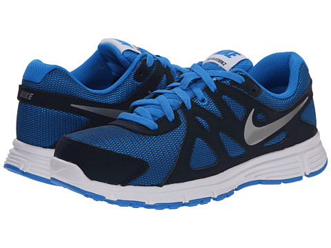 Nike Kids - Revolution 2 (Big Kid) (Photo Blue/Obsidian/White/Metallic Silver) Kids Shoes