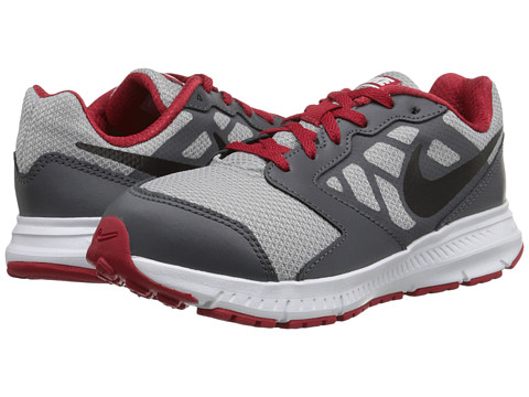 Nike Kids - Downshifter 6 (Little Kid/Big Kid) (Wolf Grey/Dark Grey/White/Black) Boys Shoes