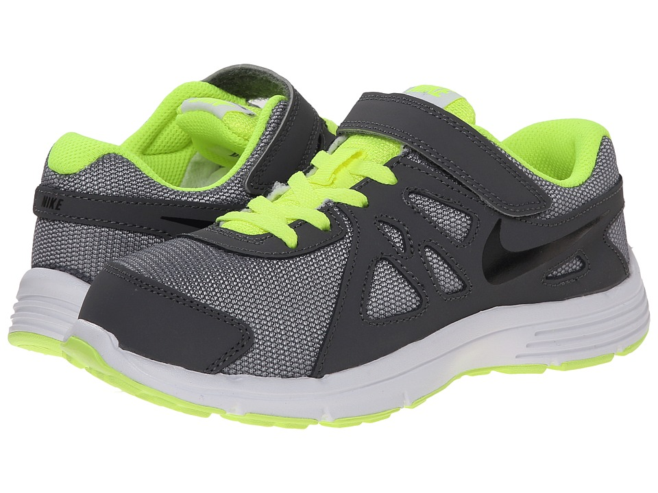Nike Kids - Revolution 2 (Little Kid) (Wolf Grey/Dark Grey/Black/Black) Boys Shoes