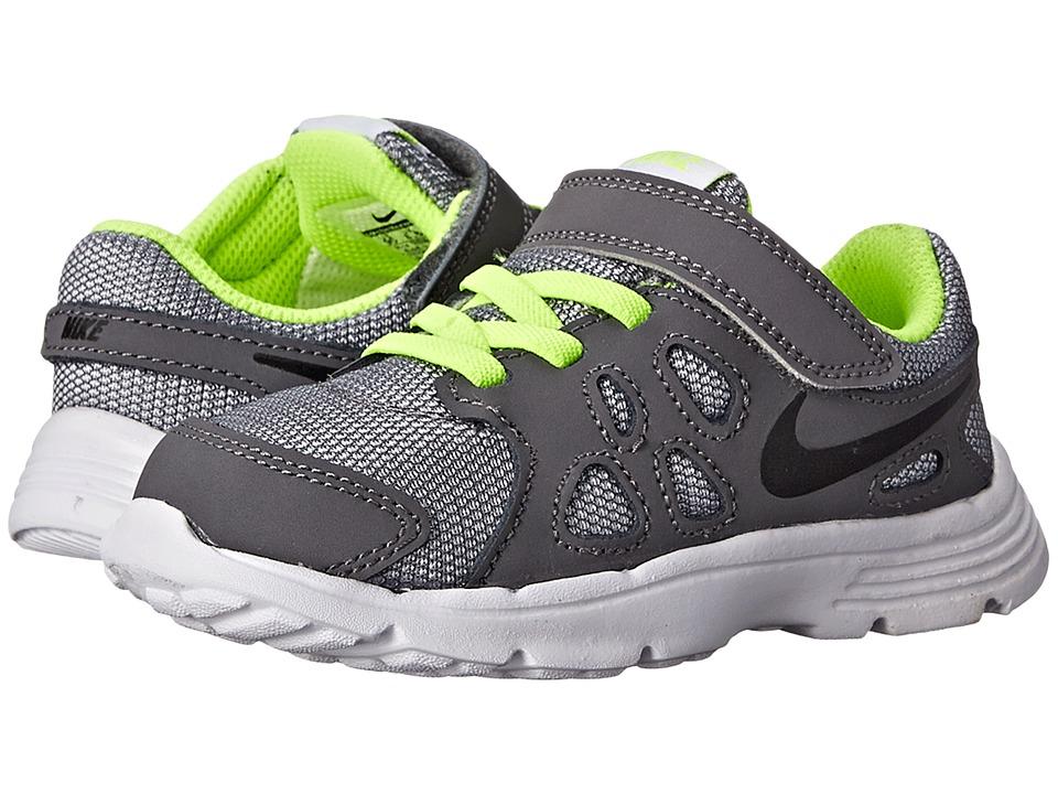 Nike Kids - Revolution 2 (Infant/Toddler) (Wolf Grey/Dark Grey/Black/Black) Boys Shoes