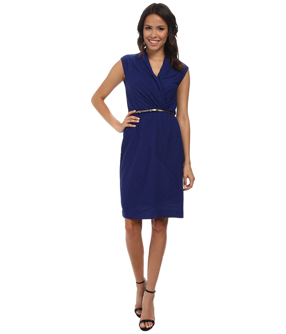NIC+ZOE - Angled Pleats Dress (Blue Roma) Women
