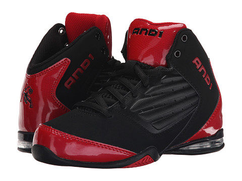 AND1 Kids - Master 2 Mid (Little Kid/Big Kid) (Black/Varsity Red/Black) Boys Shoes