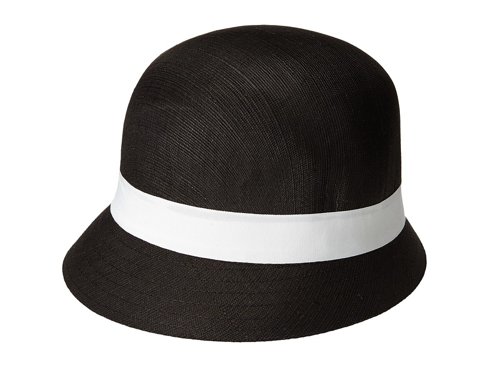 LAUREN by Ralph Lauren - Linen Cloche (Black/Cream) Caps