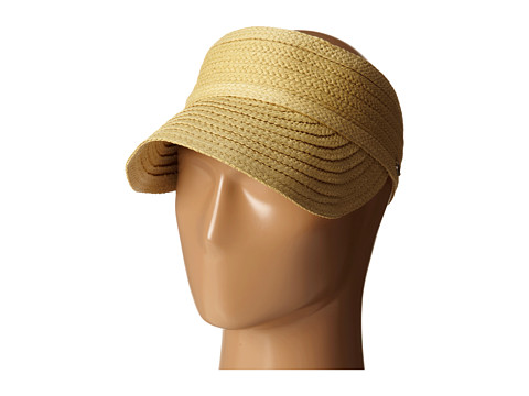 LAUREN by Ralph Lauren - Braided Straw Visor (Tan) Caps