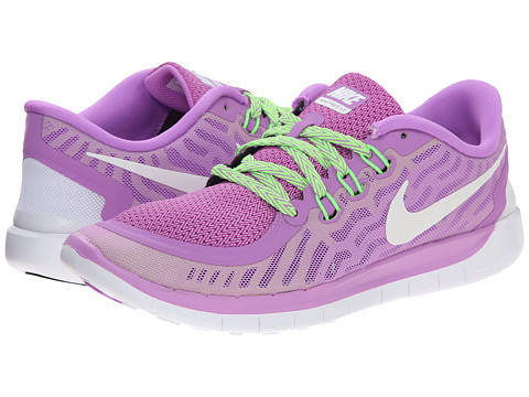 Nike Kids - Free 5.0 (Big Kid) (Fuchsia Glow/Black/Volt/White) Girls Shoes