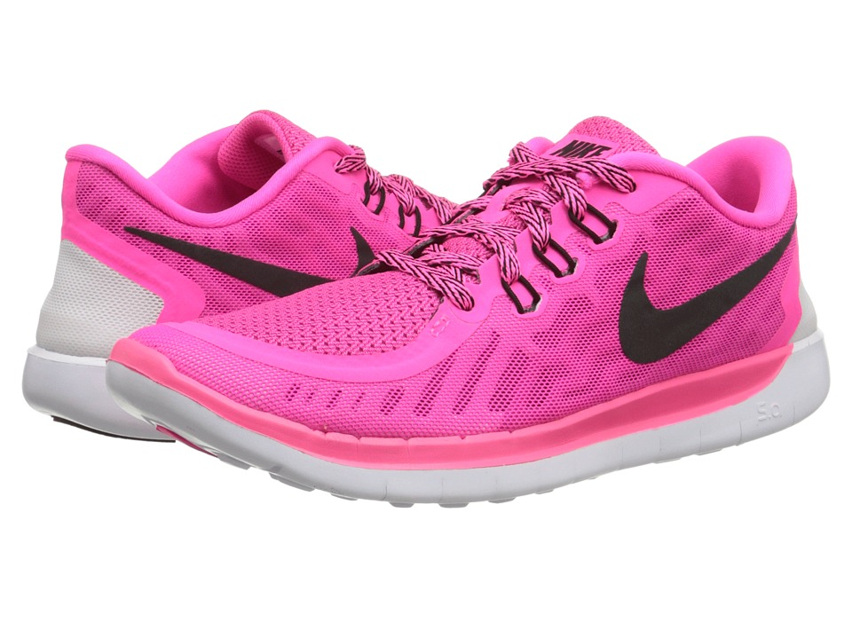 Nike Kids - Free 5.0 (Big Kid) (Pink Pow/Vivid Pink/White/Black) Girls Shoes