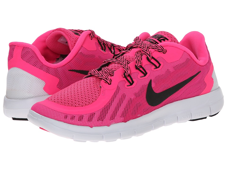 Nike Kids - Free 5 (Little Kid) (Pink Pow/Vivid Pink/White/Black) Girls Shoes
