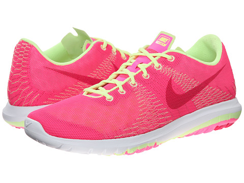 Nike Kids - Flex Fury (Big Kid) (Pink Pow/Liquid Lime/White/Vivid Pink) Girls Shoes