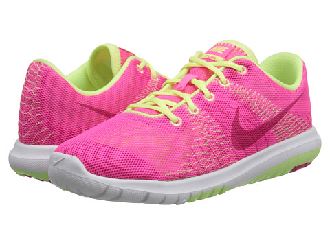 Nike Kids - Flex Fury (Little Kid) (Pink Pow/Liquid Lime/White/Vivid Pink) Girls Shoes