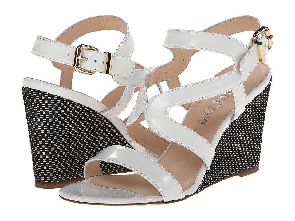 Aquatalia - Surprise (White Patent) Women's Wedge Shoes